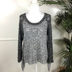 Leifnotes Anthropologie Grey Knit Sweater Large